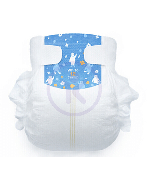 Japanese Diapers Whito, S, 4-8 kg, 12h (night time), 60 pcs.