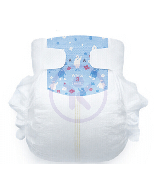 Japanese Diapers Whito, S, 4-8 kg, 3h (day time), 66 pcs.